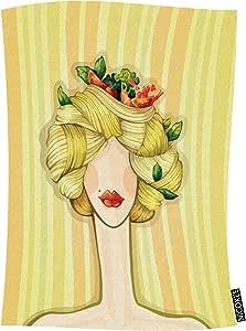 Nicokee Pasta Hair cobija de franela suave y cálida, cara