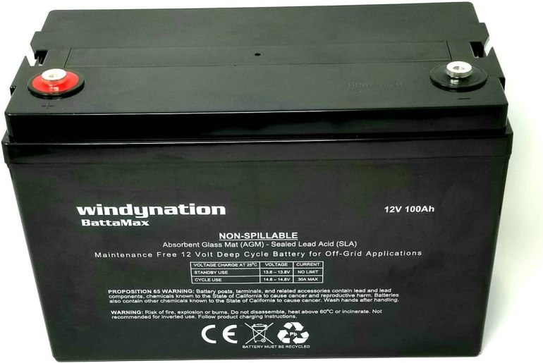 WindyNation 100AH 12V Deep Cycle Battery