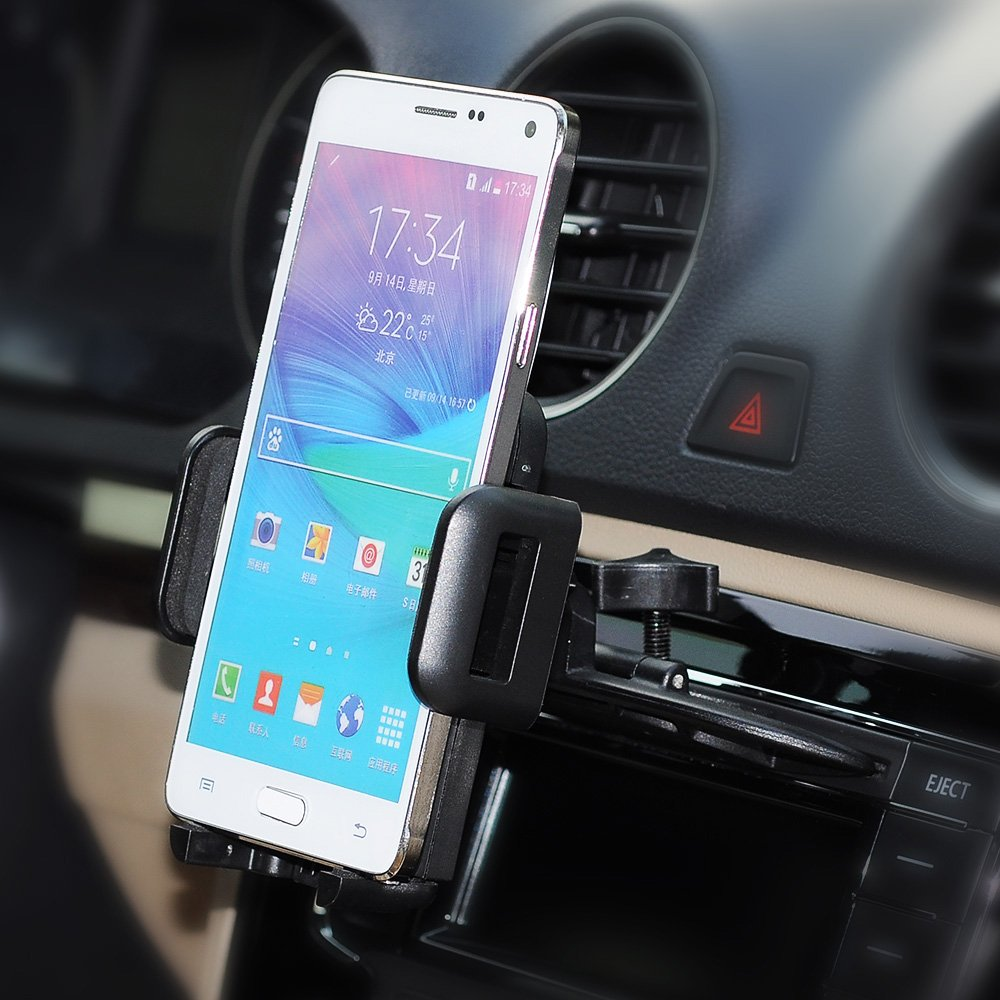 Mpow car phone holder cd slot car phone mount universal car cradle mount 12