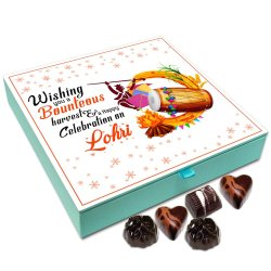 Chocholik Lohri Gift Box – Wishing You A Bounteous Harvest On Lohri Chocolate Box – 9Pc