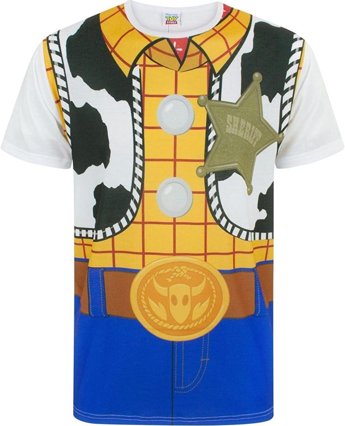Disney Toy Story Woody Cowboy Costume Outfit Men's Adults Novelty T-Shirt