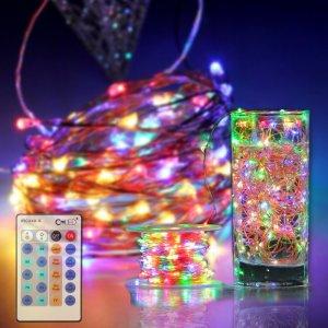 luci di natale led colorate telecomandate