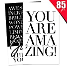 You Are Amazing - Appreciation Mini Note Cards by Tiny Love Cards - Inspirational, Motivational, Encouragement Kindness Notes to Show Gratitude in Style - Business Card Size - 85 Cards of SAME Design