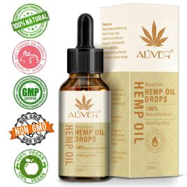 Hemp Oil 3000 mg,100% Natural Hemp Oil Drops for Pain, Anxiety & Stress Relief – Ingredients Organic Hemp Extract, Helps with Sleep, Skin & Hair