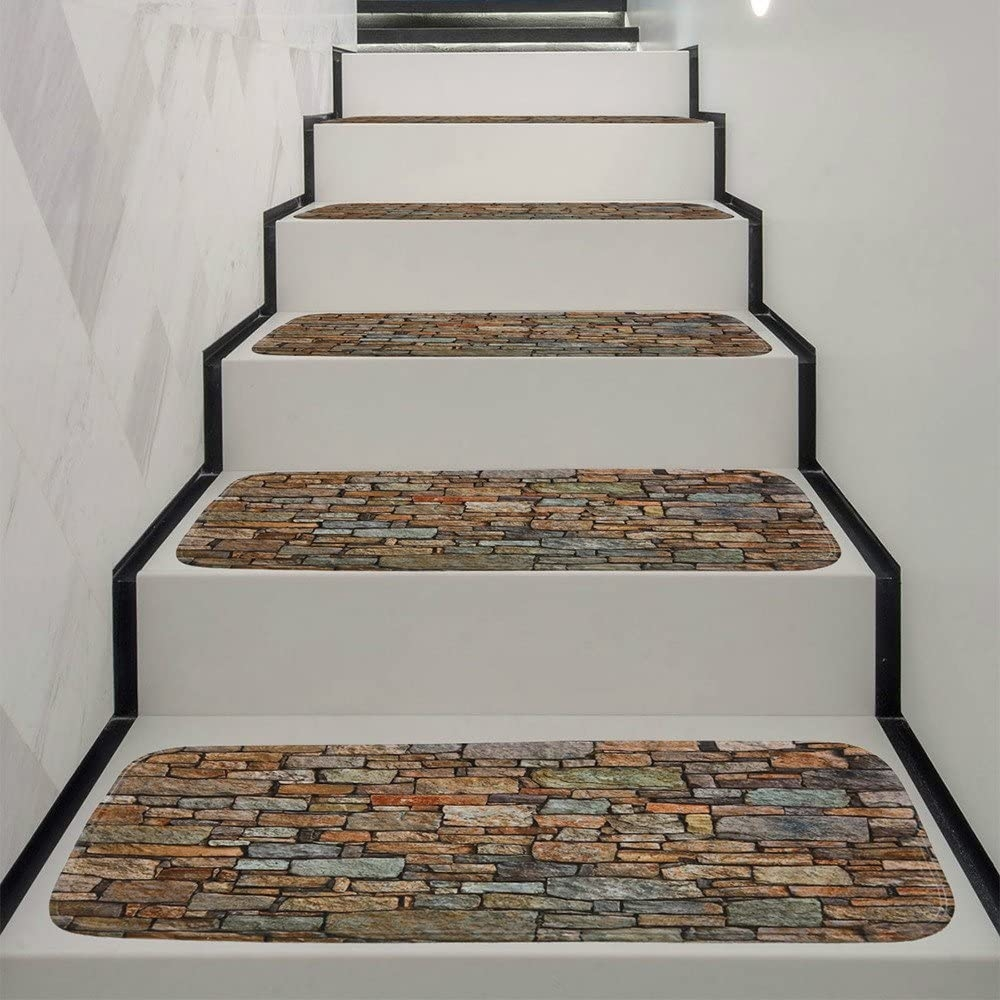 Amazon Com Libison Carpet Stair Treads Non Slip Skid Coral Fleece   Carpet For Stairs Amazon   Beige   Non Slip   Flooring   Self Adhesive   Carpet Tiles