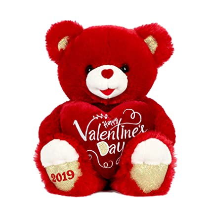 Image result for Naarmann Valentine / Love Teddy Bear - Red