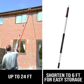 6-24 Foot Telescopic Extension Pole