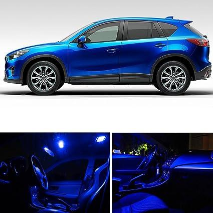 Ledpartsnow Mazda Cx 5 Cx5 2017 Blue Premium Led Interior Lights Package Kit