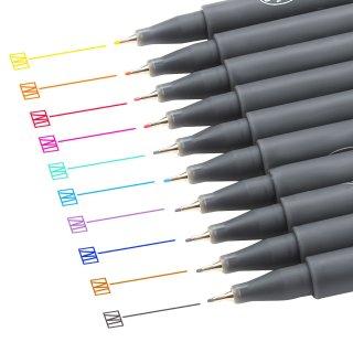 Huhuhero Fineliner Color Pen Set, 0.38 mm Fine Line Drawing Pen