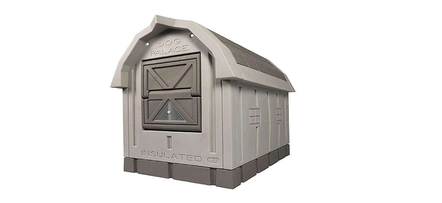 Deluxe Insulated Dog Palace with Floor Heater by ASL Solutions