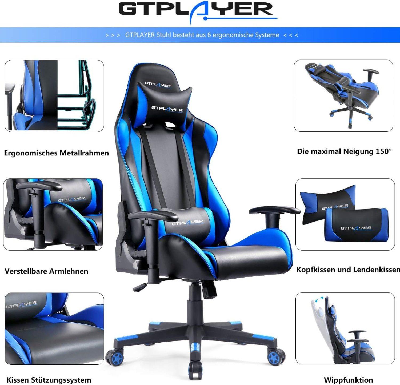 GTPLAYER Gaming Stuhl - ergonomische Systeme
