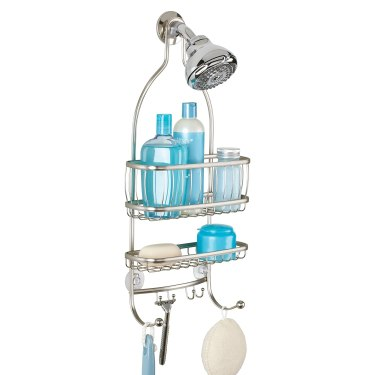 An iDesign Metal Shower Caddy is a great small bathroom storage ideas