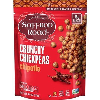 Saffron Road Organic Crunchy Chickpeas, Chipotle, 6 Ounce