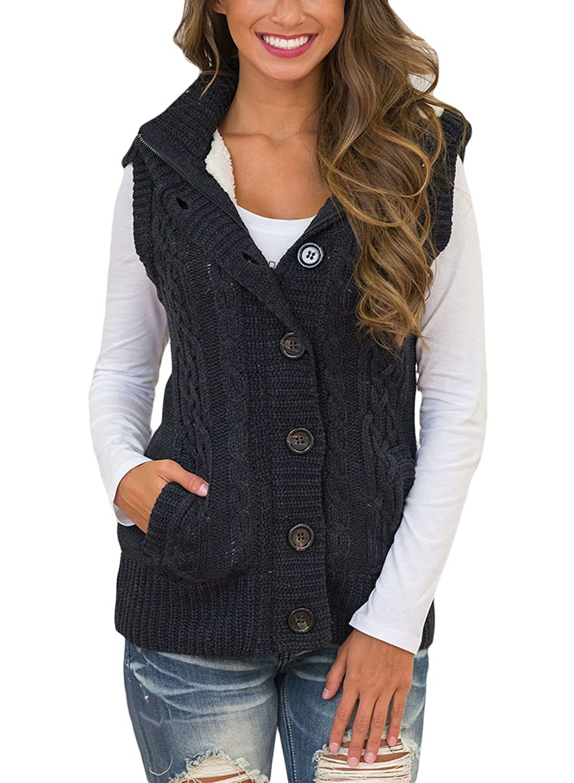 Amazon Fashion Cable Knit Sleeveless Sweater