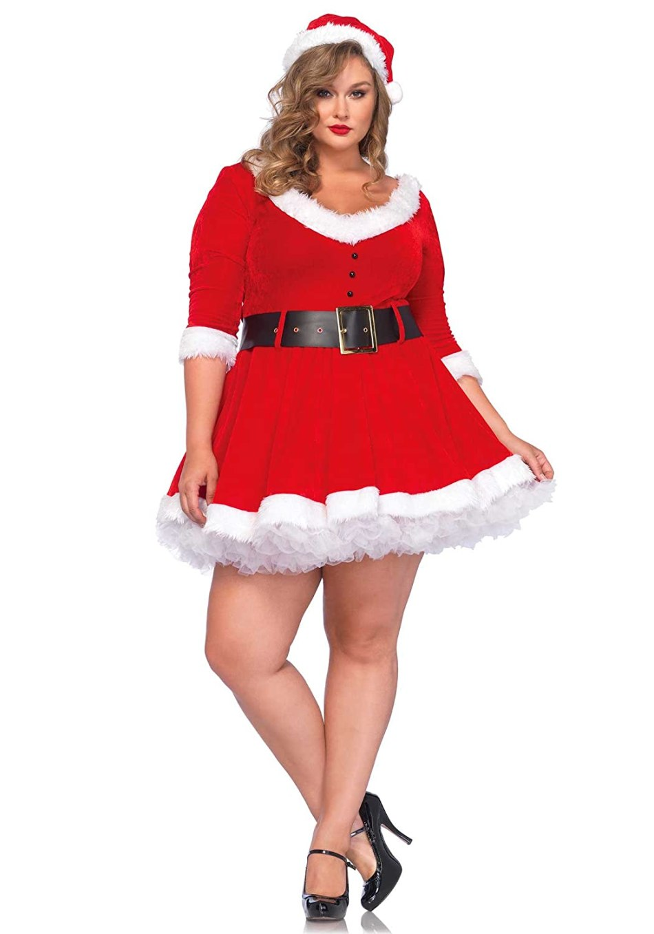 Leg Avenue Women's Plus-Size Miss Santa
