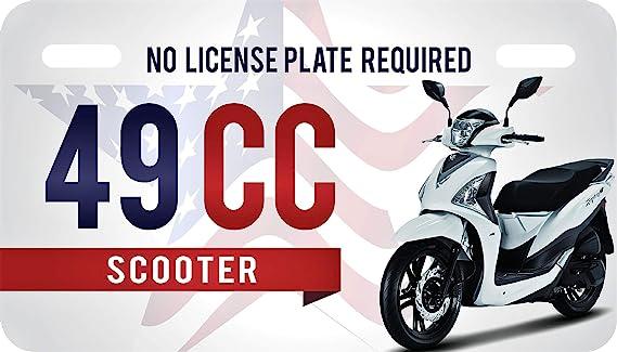 Usa Patriotic 49cc License Plate For