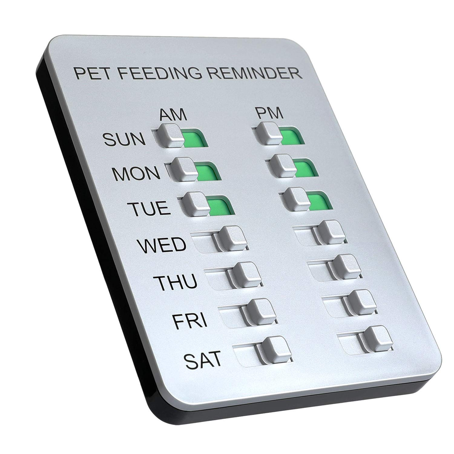 Allinko Dog Feeding Reminder Magnetic Reminder Sticker, AM/PM Daily  Indication Chart Feed Your Puppy Dog Cat, Easy to Stick on Any Magnet or  Plastic
