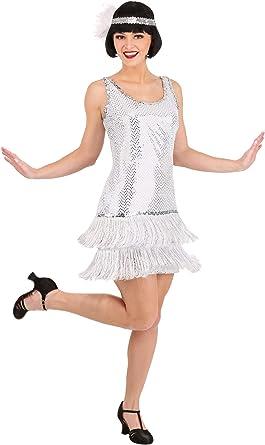 Amazon.com: Silver Plus Size Flapper Dress Costume: Clothing