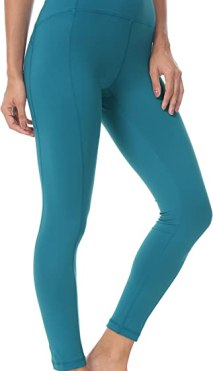 QUEENIEKE Women Yoga Leggings Ninth Pants Mid Waist Running Gym Tights Size M Color Teal