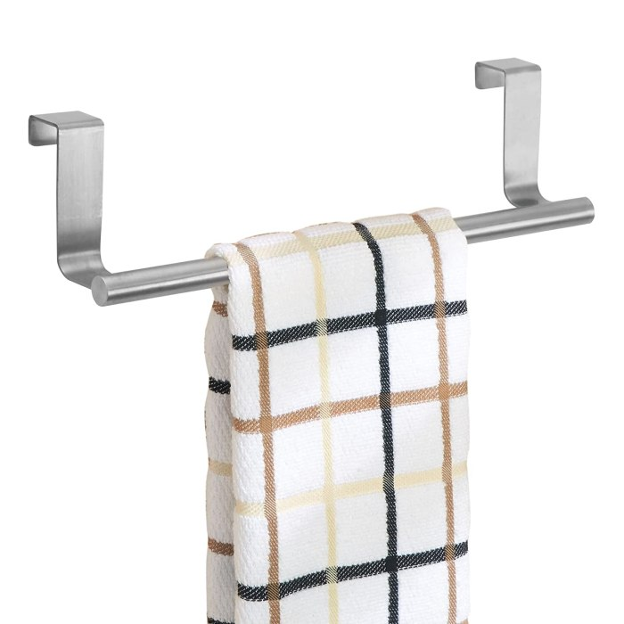 "InterDesign Forma Over Cabinet 9"" Towel Bar Easy way to hang hand towels in the kitchen."