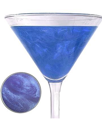 Snowy River Sapphire Blue Cocktail Glitter, Kosher Certified Blue Drink Glitter, Wine Glitter, Beer Glitter, Blue Beverage Glitter (5gtams)