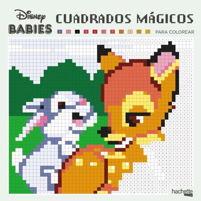 Cuadrados mágicos para colorear - Disney Babies (Hachette Heroes