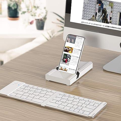 Bluetoothキーボード 折りたたみ式 143g 超軽量 Levens ワイヤレスキーボード iOS/Android/Windowsに対応 USB充電 薄型 持ち運び便利 専用ケース付き スタンド機能付き(レシバー)