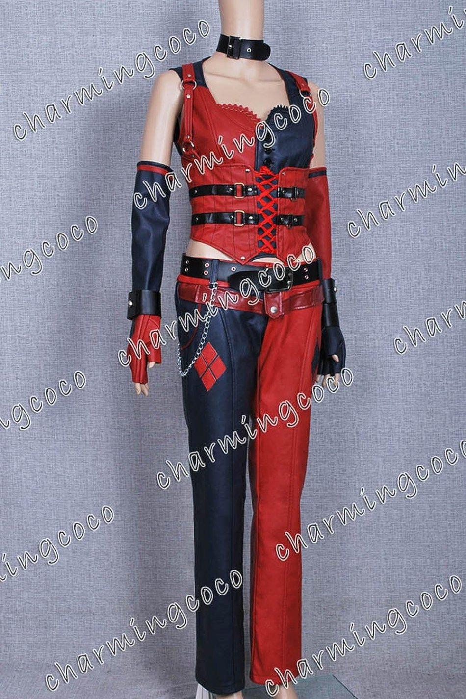 Batman: Arkham City Cosplay Costume Harley Quinn Full Set (Female L)