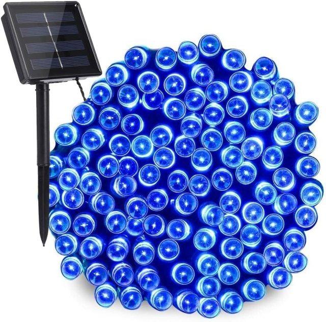 Solar Blue String Lights