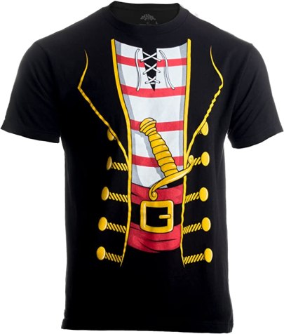 Halloween tshirt costume - pirate