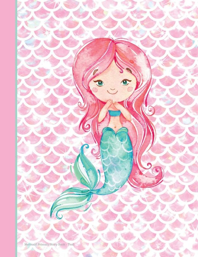 Buy Mermaid Primary Story Book Teal: 228 Pages 28.28 x 28 Draw and