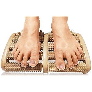 TheraFlow Dual Foot Massager Roller (Large) - Acupressure/ Reflexology Tool