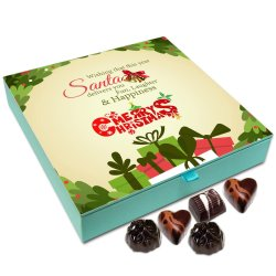 Chocholik Christmas Gift Box – May Santa Deliver Laughter Fun and Happiness On Christmas Chocolate Box – 9pc