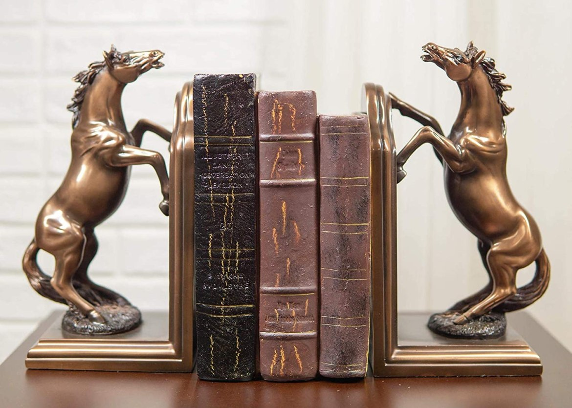 Rearing horse bookend