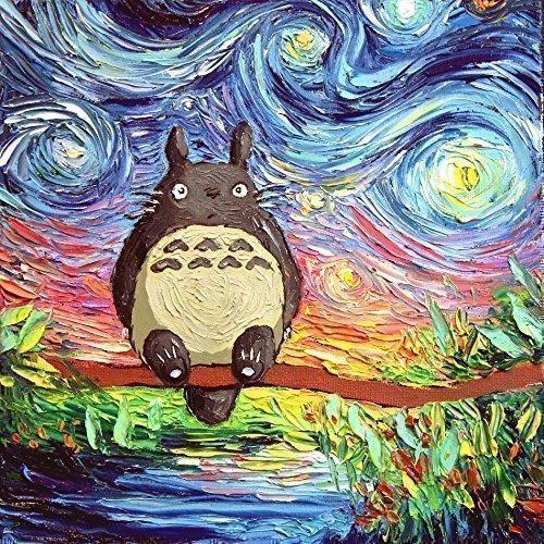My Neighbor Totoro Inspired Poster Artwork Print Starry Night van ...