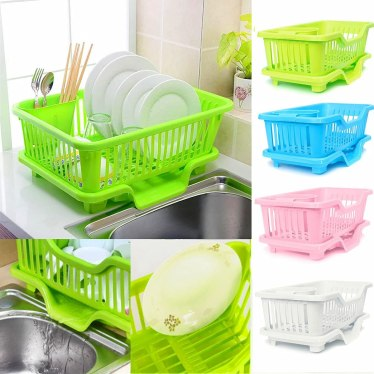 Kitchen Dishes Draining Rack Storage Racks