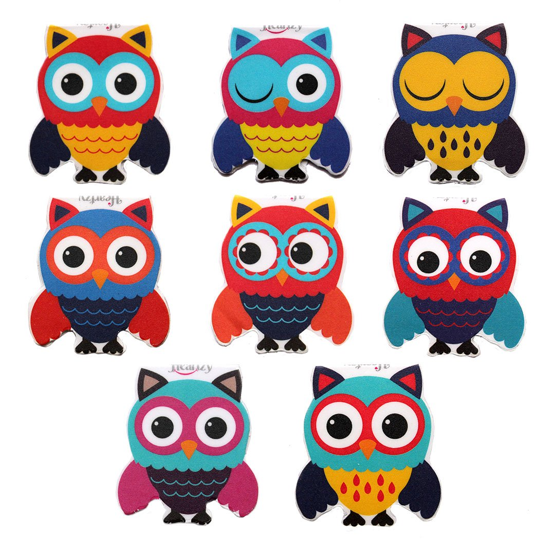 Heartzy Set Of 8 Cute Owl Magnetic Bookmark Combo Amazon In Office Products