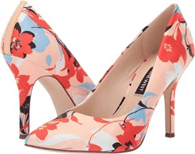 Nine West Women's Flax Pump Peach Multi 10.5 M US