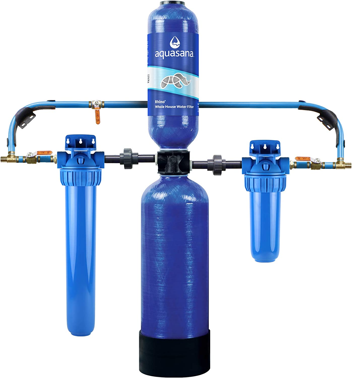 Aquasana Whole House Water Filter System Filters Sediment 97 Of Chlorine Carbon Kdf Home Water Filtration Eq 1000 10 Yr 1 Million Gl Amazon Com