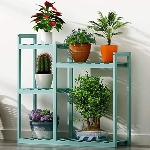 Medla Unho Bamboo Plant Stand Shelves 5 Tiered Planter Stand Indoor Plant Pot Stands Plant Shelf Outdoor Plant Display Stand Multifunctional Shelving Unit Rack 69 5 X 25 X 78cm Amazon Co Uk Garden Outdoors