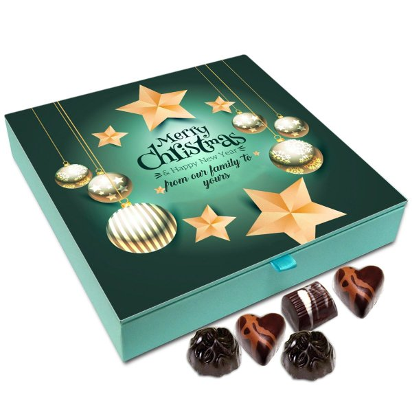 Chocholik Christmas Gift Box – Merry Christmas from Our Family to Yours Chocolate Box – 9pc
