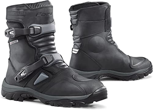 Forma FORC50 W-9938 Adventure Low WP Motorcycle Boots CE Approved, Black,  42: Amazon.co.uk: Shoes & Bags