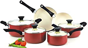 Cook N Home NC-00359, 10-Piece, Red