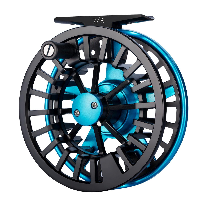 Piscifun Aoka Fly Fishing Reels with Cork/Teflon Disc Drag System 7 8 wt Blue