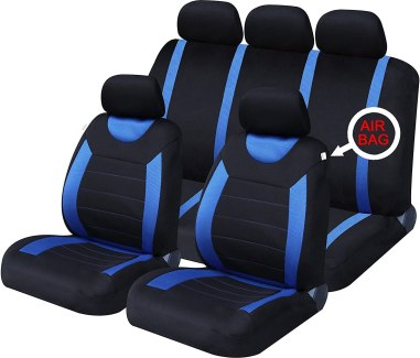 Rallye Blue/Black Universal Car Seat Cover