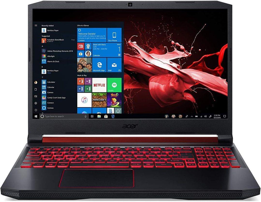 "Acer Nitro 5 AN515-54-75T7 Ordinateur portable gaming 15.6"" FHD (Core i7, 16 Go de RAM, 1024 Go SSD, NVIDIA GeForce GTX 1660Ti, Windows 10)"