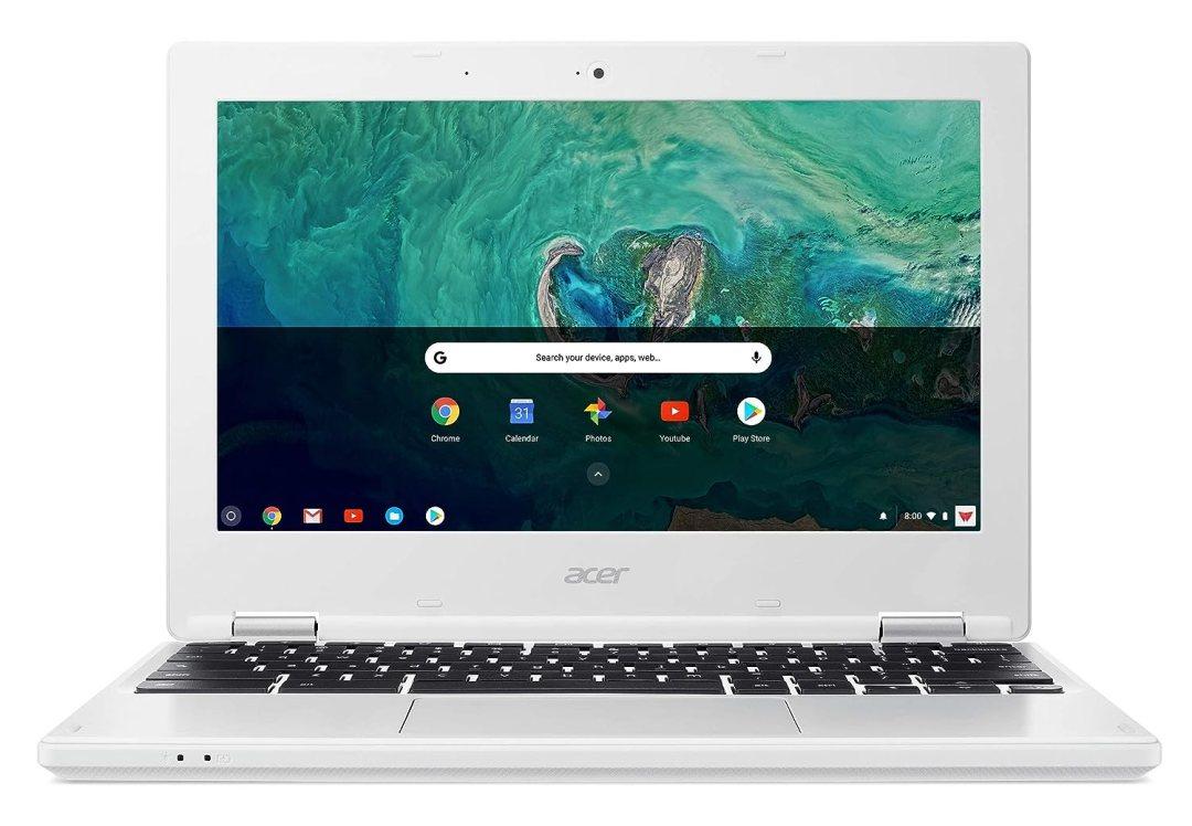 "Acer Chromebook CB3-132-C4Y6 Ordinateur portable 11,6"" HD Blanc (Intel Celeron, 4 Go de RAM, 32 Go eMMC, Intel HD Graphics, Chrome OS)"