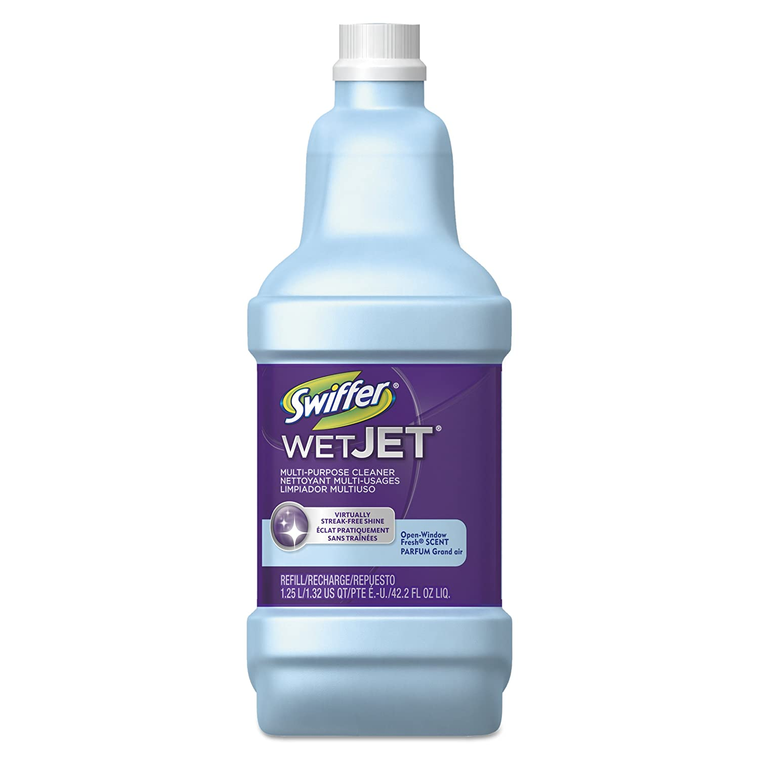 Amazon Com Swiffer 23679ct Wetjet System Cleaning Solution Refill 1 25 Liter Open Window Fresh Case Of 6 Industrial Scientific