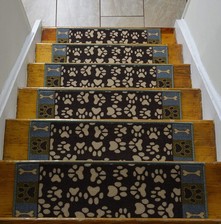 Stair Treads Skid Slip Resistant Backing Indoor Carpet Stair | Outdoor Carpet Stair Treads | Indoor Outdoor | Flooring | Ottomanson Jardin | Non Skid | Anti Slip
