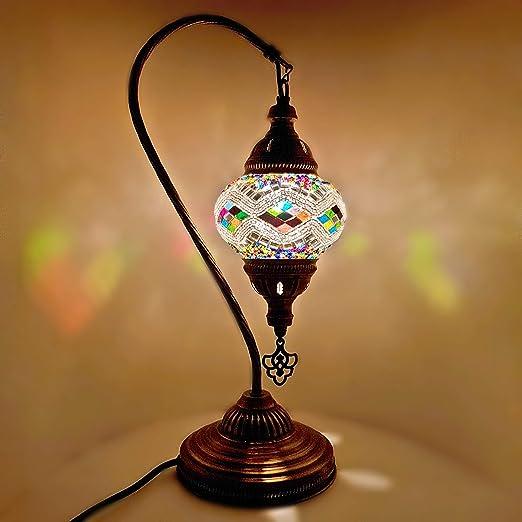 Turkish Moroccan Lamp Glass Desk Table Lamp With Uk Plug And Switch G16 Amazon Co Uk Lighting